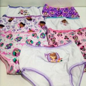 Toddler girls Disney 7 pcs underwear new